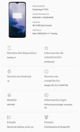 ONEPLUS 7 - IMPECABLE