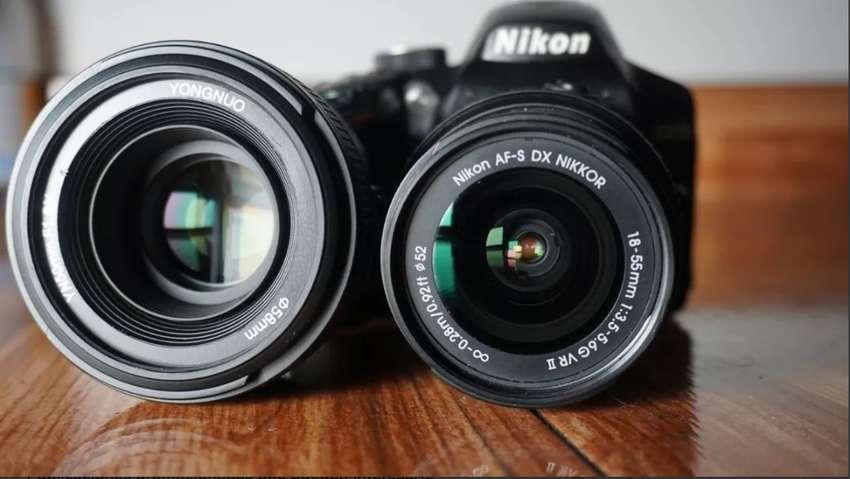 Camara Nikon D3200 Lente 18-55 Original + Yongnuo 50mm, F1.8 0