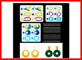 3 moldes de resina epoxi para pendientes, paquete de 203 moldes de silicona para joyería de resina, para manualidades