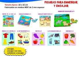 FIGURAS PARA ENHEBRAR Y ENCAJAR ( CON ASA)