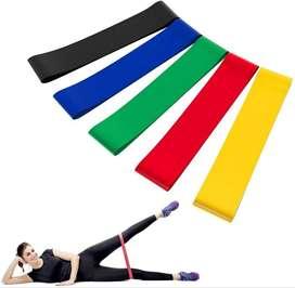 Bandas Elásticas Resistencia Kit  X 5 Deportiva Yoga Pilates