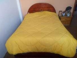 Se vende cama de 2 plazas con colchon