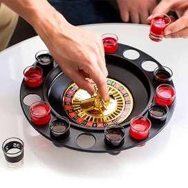Juego Ruleta Shots Juego De Mesa Para Tomar Drinker Shot Spinning 16 Piezas