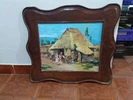 Vendo 2 hermosos cuadros óleo  sobre madera