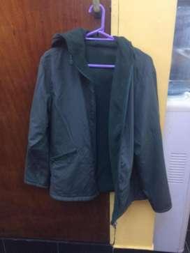 campera reversible color verde, polar interno