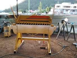 Dobladora de tool de 1.25 Mts capacidad 2 m.m.