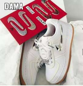 Tenis Nike Air forcé one Travis Scoot dama