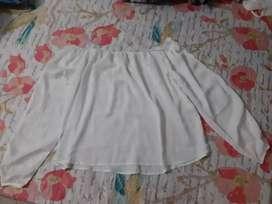 Blusa blanca marca gef