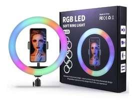 Aro De Luz Rgb Led Multicolor 26 Cm