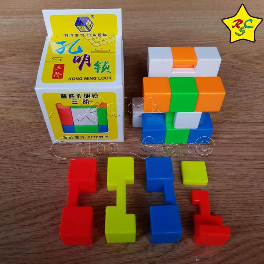 Cubo Yuxin Kong Ming Lock Puzzle Rompecabezas Tridimensional 0