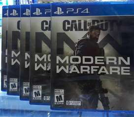 CALL OF DUTY MODERN WARFARE PS4 NUEVO SELLADO ENVIOS