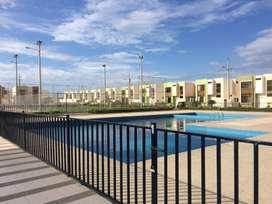 Alquiler casa en Manta en urbanización privada a un minuto de la playa