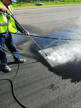 descontaminación de pista por caucho