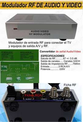 Modulador rf de audio y video