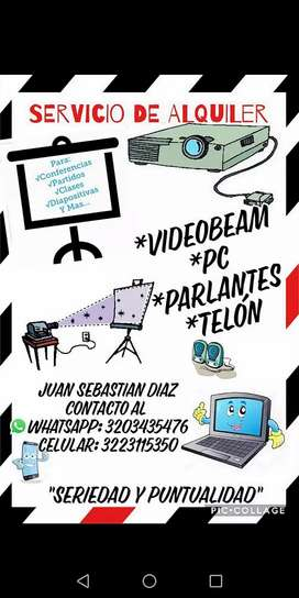 ALQUILER DE VIDEOBEAM Y MANTENIMIENTO