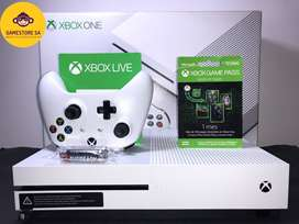 XBOX ONE S 500GB-4 MESES XBOX LIVE-4 MESES GAMEPASS-15 JUEGOS
