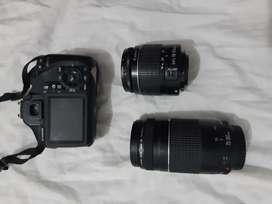 Se vende cámara profesional canon Rebel EOS T3 con lente adicional de 75-300 mm