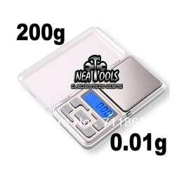 Mini Balanza Portable Pocket Scale Digital 0.1 A 200 Gramos