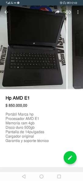 Portátil Hp AMD E1