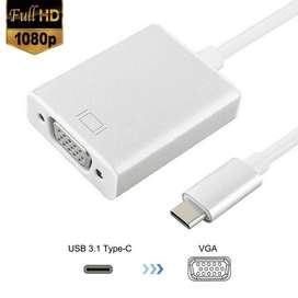 Convertidor USB 3.1 USB-C Male a VGA Female