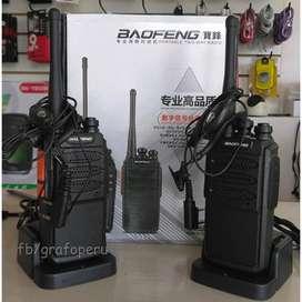 2 x Radio Walkie Talkie Baofeng 1km - 3km Potencia 8w Carga Usb