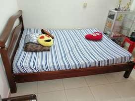 Combo cama en madera y colchón