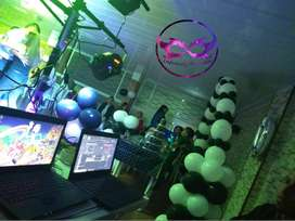 Servicio de Dj y animadores, para fiestas de cumpleaños 15 años, alquiler de sonido y luces a domicilio gratis