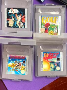 Juegos clasicos Nintendo Gameboy. Made in Japan F1, Golf, f1 Race