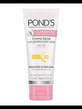 Crema Facial Ponds Clarant B3 Con Proteccion solar FPS 30**