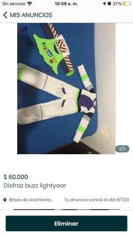 Vendo disfraz de buzz lightyear talla 8