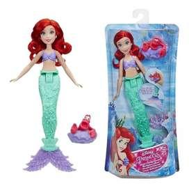 Muñeca Princesa Ariel Disney Cambia El Color Original Hasbro