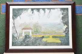 Cuadro Pintura De La Hacienda El Paraíso En Acuarela