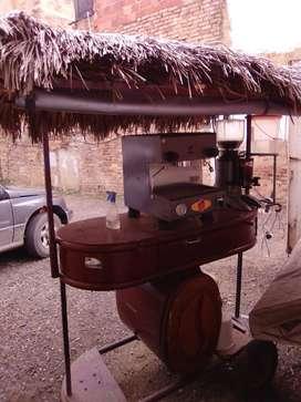 Maquina Capuchinera Mundo Espress Electrica 110 de un Grupo, con 2 años de uso