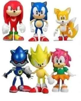 Pack X6 Figuras Sonic - Sonic Boom