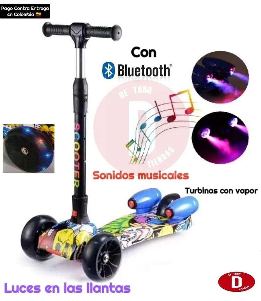 Patinetas con Bluetooth Sonidos musicales Turbinas con vapor y luces 0