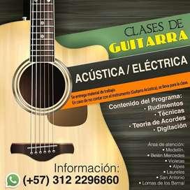 Clases de Guitarra Acústica o Eléctrica a domicilio
