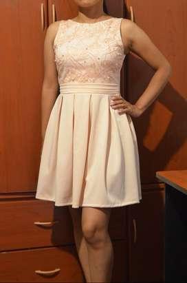 Vestido Elegante - Talla S - Matrinonio, Bautizo, Graduación
