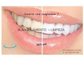 (Odontología) limpieza+blanqueamiento