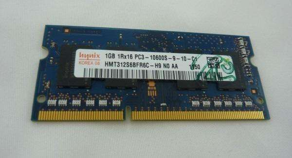 Memoria RAM SODIMM DDR3 De 1 GB Usadas. 0