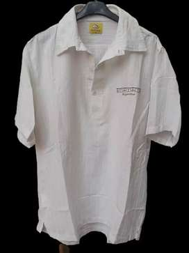 Camisa hombre tipo chomba blanca talle L