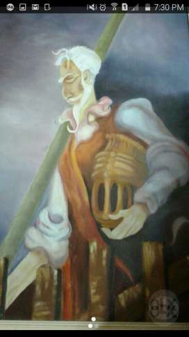 Cuadro Al Oleo El Quijote