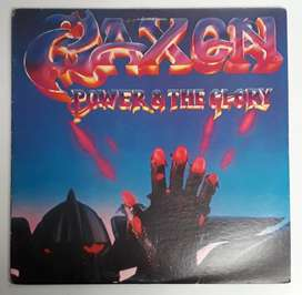 Saxon Power & The Glory Lp Carrere 1983 First Press