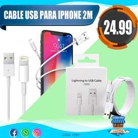 Cable Usb Para iPhone De 2m