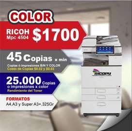 Copiadora Ricoh Mpc 4504 Full Color con Garantía