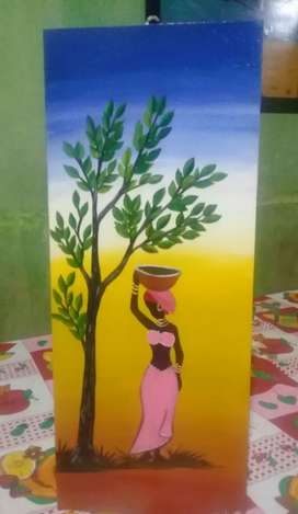 Vendo cuadros decorativos pintados a mano en acrílico varios motivos