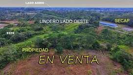 VENDO 160.000 M2 (16 hect) CENTRO DE LAGO AGRIO