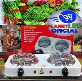 Cocineta Eléctrica 2 Doble Hornilla Potente Portátil Excelente