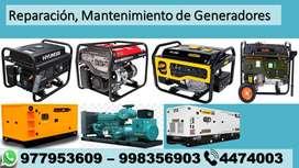 Reparación y mantenimiento de Grupos electrógenos y generadores eléctricos, servicio técnico