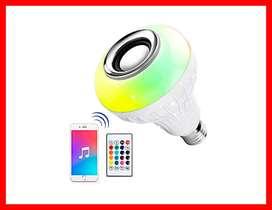 Bombilla LED Altavoz Bluetooth Bombilla de 6 W E26 RGB Cambiante Lámpara Audio Estéreo Inalámbrico con 24 Teclas