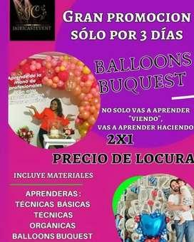 Curso profesional de Globos BALLOONS BUQUEST